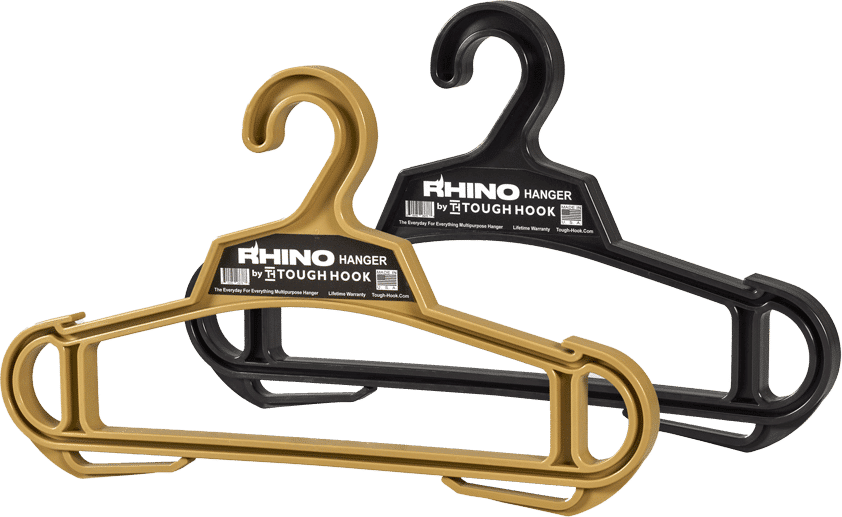 The all new Rhino Hanger by Tough Hook | Heavy Duty Hanger Clothing Hanger